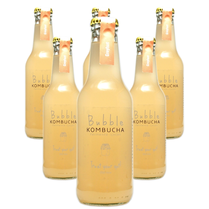 BUBBLE KOMBUCHA GREYFURT 250 ML 6'LI
