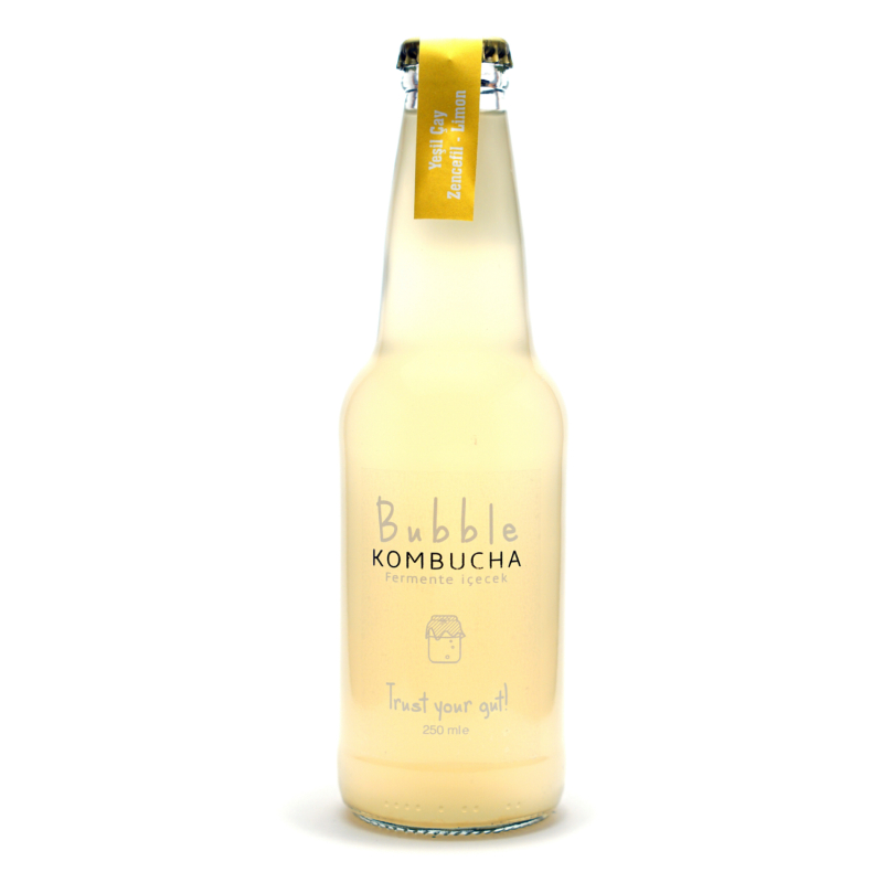 BUBBLE KOMBUCHA ZENCEFİL & LİMON  250 ML